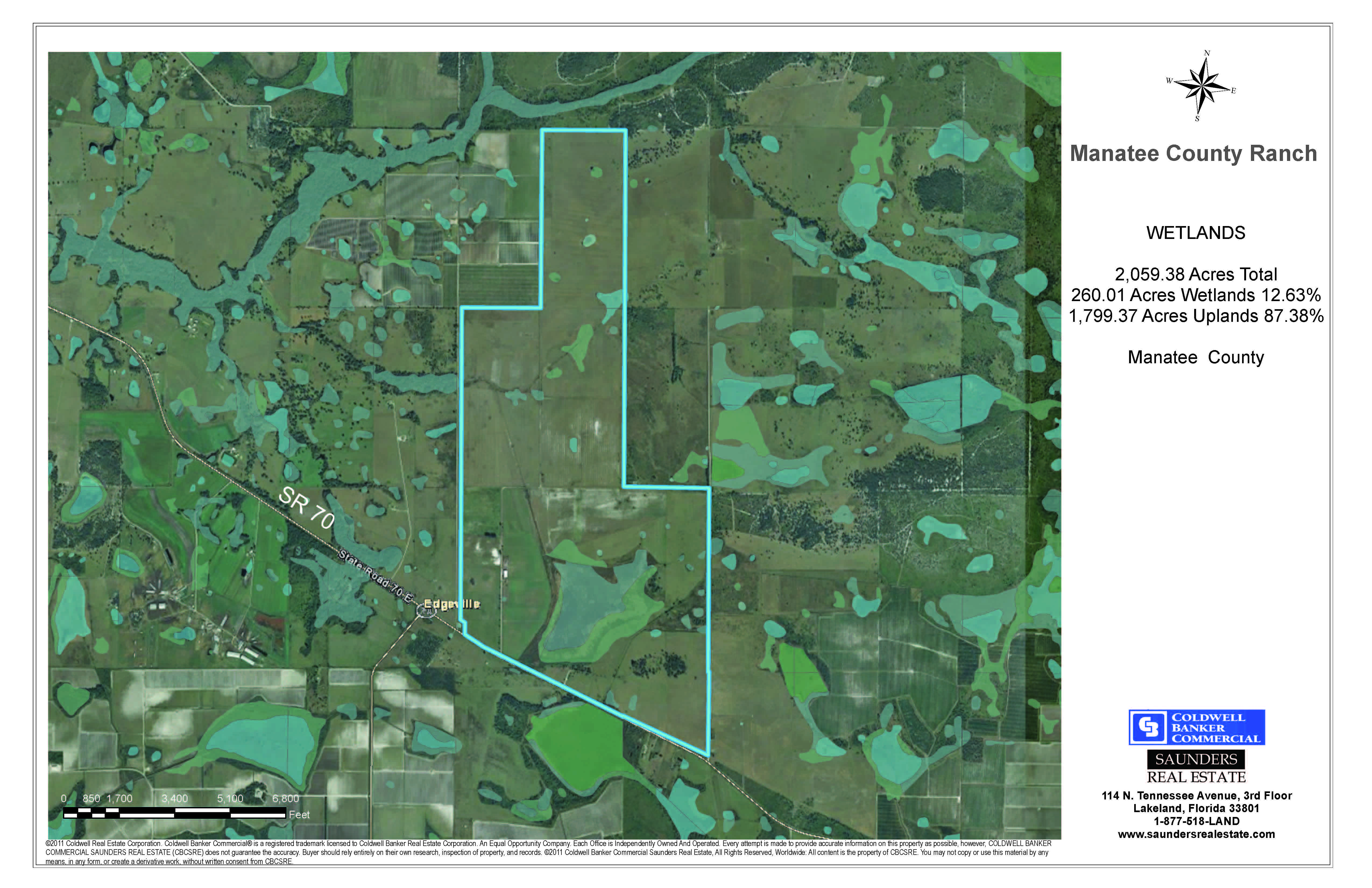 SOLD Manatee Farm And Ranch  Saunders Real Estate - Florida uplands map
