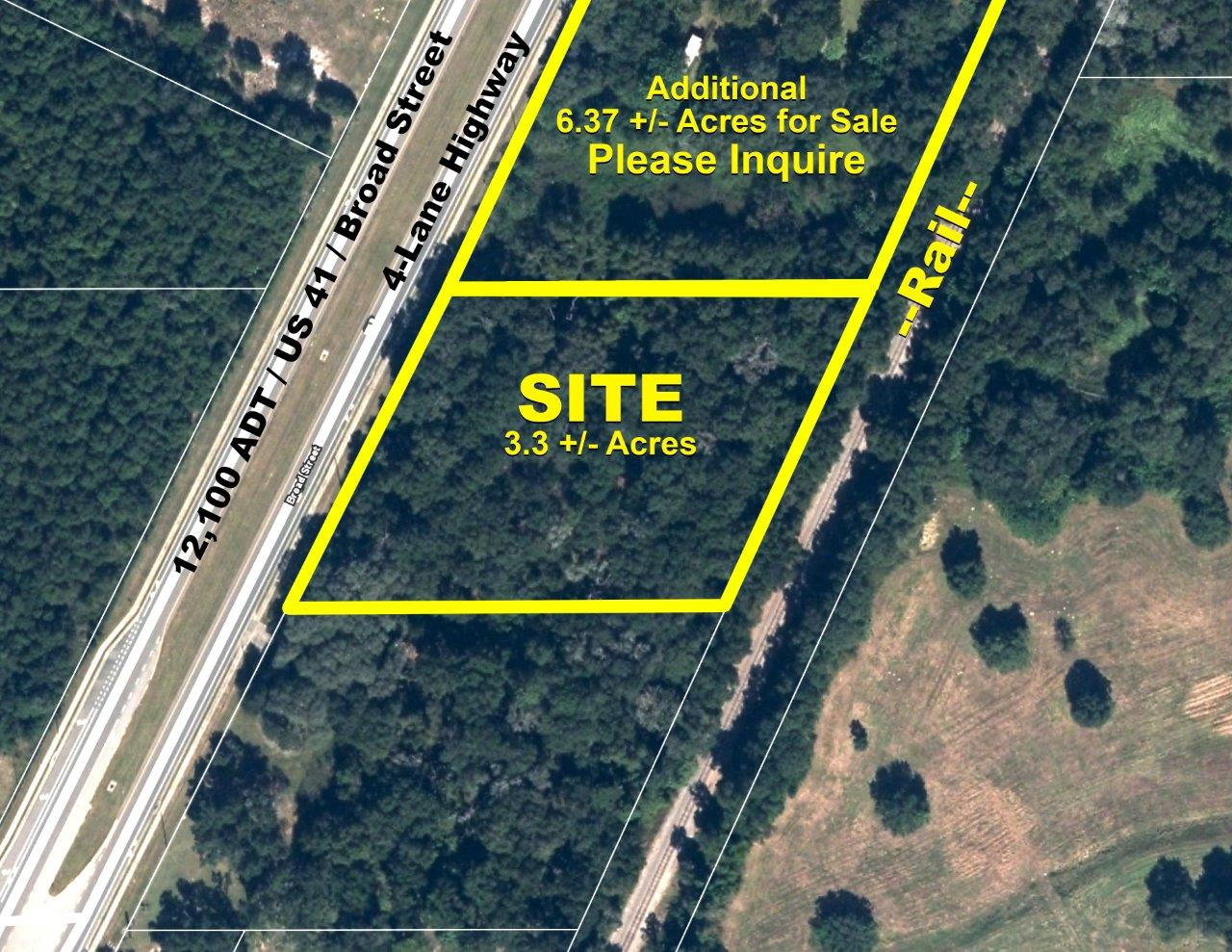 US  Brooksville Commercial Acreage In Hernando County Florida - Map of us 41 in florida