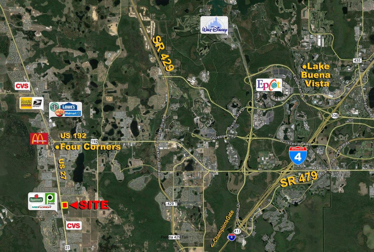 Four Corners Multifamily Development Acreage In Polk County - Us 27 map
