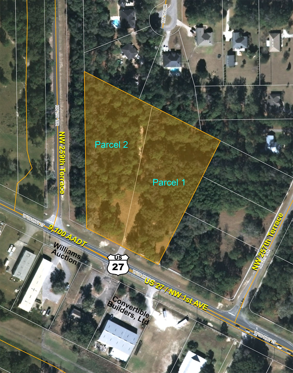 US  Commercial Lots In High Springs Florida  Saunders Real Estate - Map of us 41 in florida