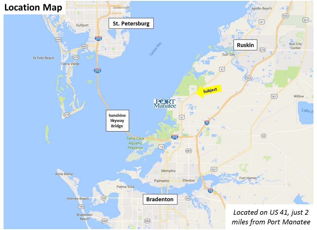 Southwest Florida Water Management District Surplus Properties - Florida map ruskin