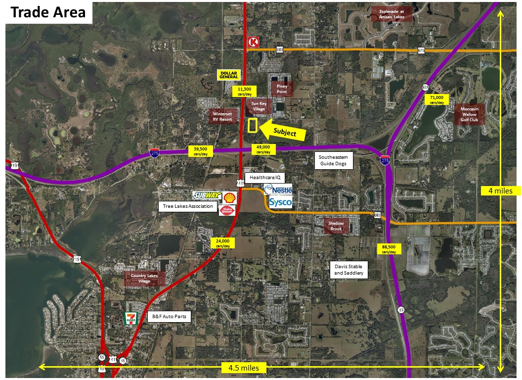 Southwest Florida Water Management District Surplus Properties - Map of us 41 in florida