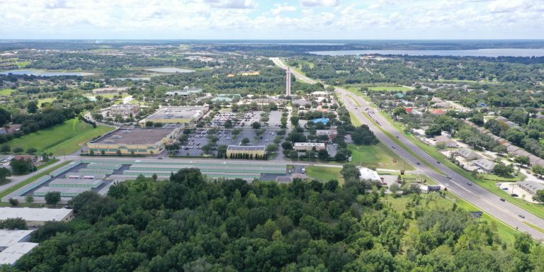 Aerial photo of Central Florida commercial real estate