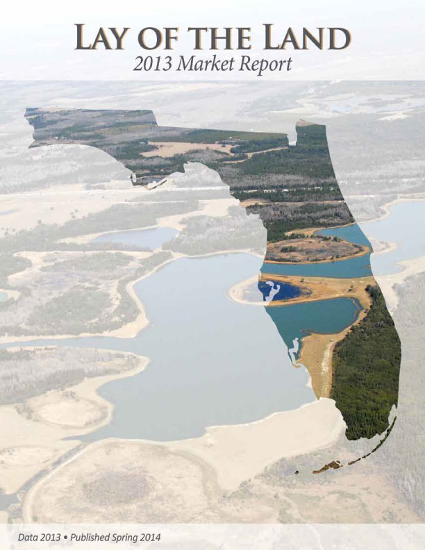 Cover of the 2013 Florida Lay of the Land Market Report