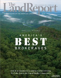 Cover of The Land Report Best Brokerages 2018