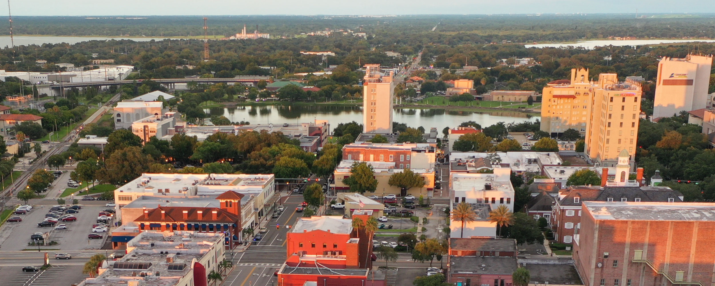 Aerial photo of downtown Lakeland, Florida