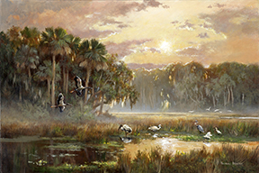 "2010 ""Storks Egrets"" Thomas Brooks"