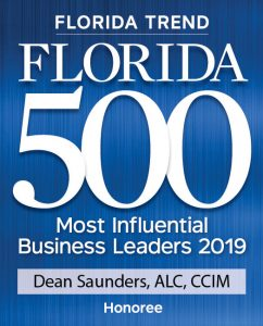 Image of Dean Saunders Florida 500 2019 Award from Florida Trend