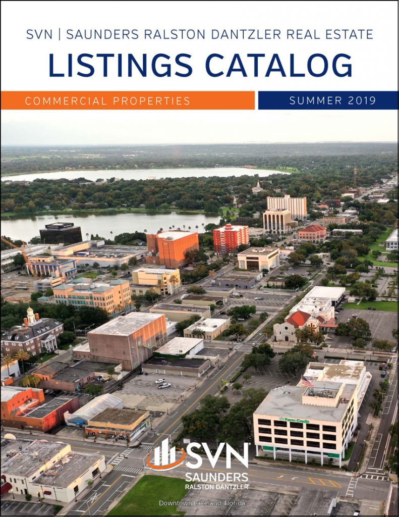 Cover of SVN Saunders Ralston Dantzler Real Estate Summer 2019 Commercial Listings Catalog