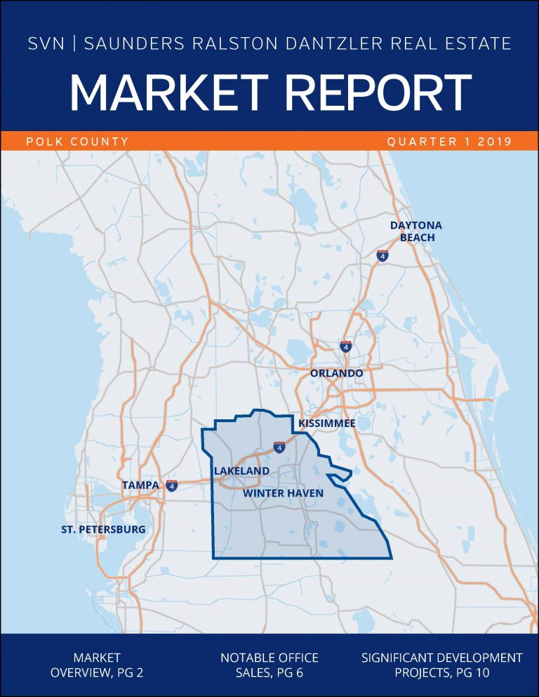 Cover of the Q1 2019 Commercial Market Report for Polk County, FL