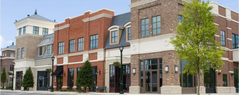 Photo of retail commercial real estate storefronts
