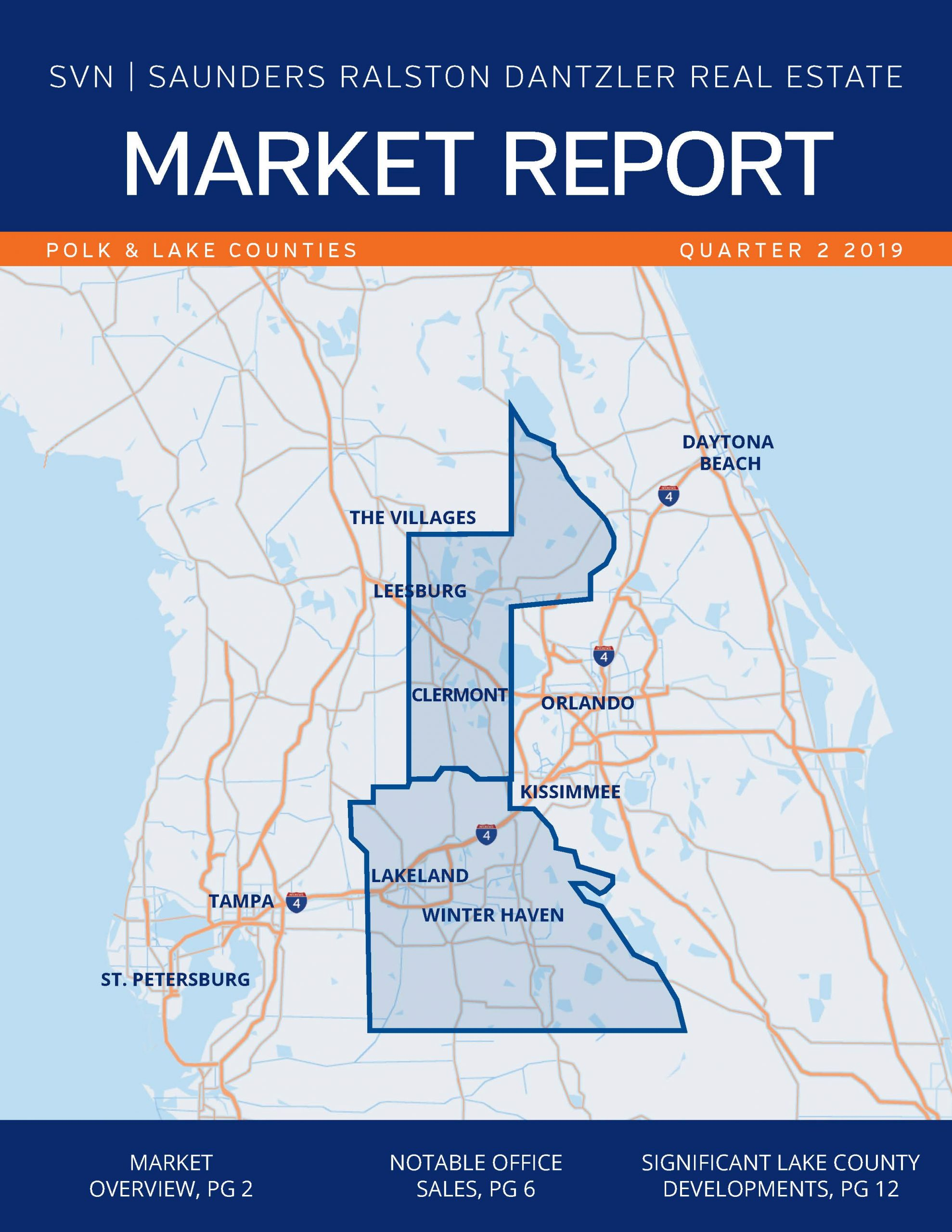 Cover of Commercial Real Estate Market Report for Polk County Central Florida Q2 2019