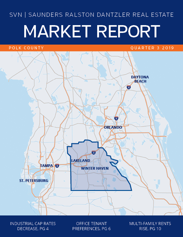 Cover of the Q3 2019 Polk County Florida Commercial Real Estate Market Report