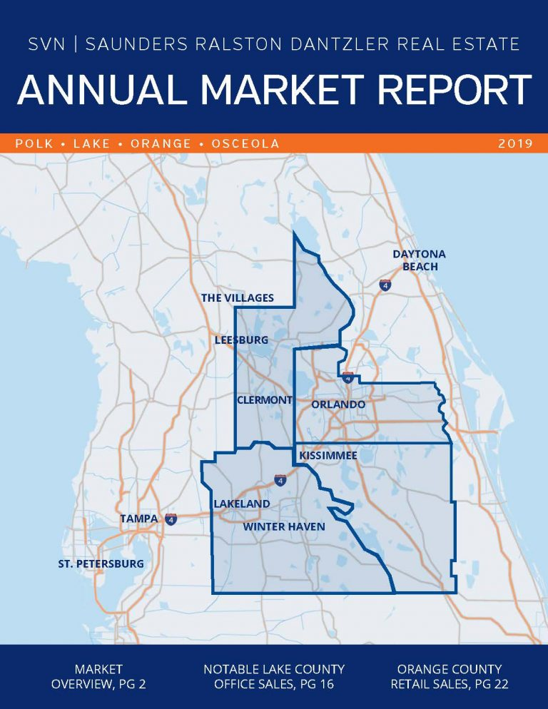 Image of the cover of the 2019 Annual Commercial Real Estate Market Report by SVN | Saunders Ralston Dantzler Real Estate