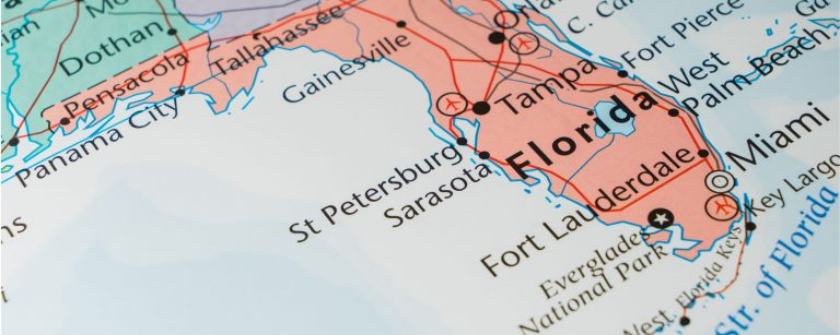 Image of a map of Florida